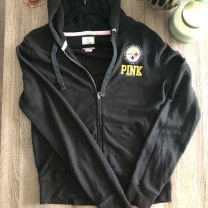 Pink Steelers black hoodie